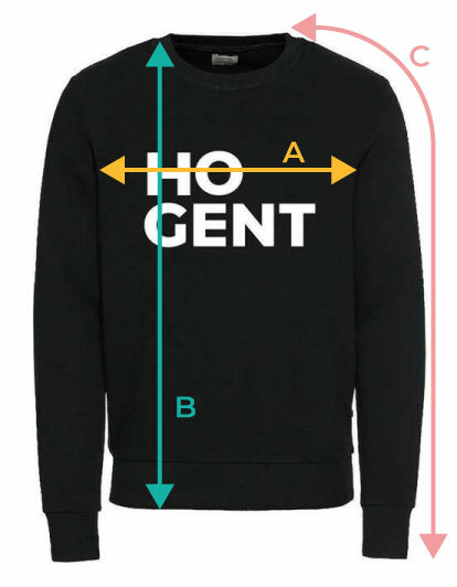 HOGENT sweater size guide